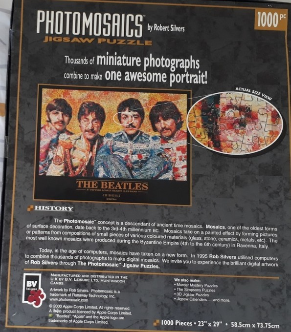 The Beatles jigsaw puzzle