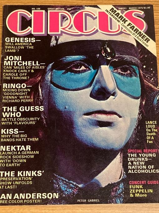 CIRCUS MAGAZINE - Vol. 9 #6 March 1975 GENESIS Kiss NEKTAR Kinks RINGO