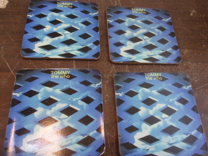 """SET OF 4   """"TOMMY""""   ALBUM COVER DRINK COASTERS    NEW"""