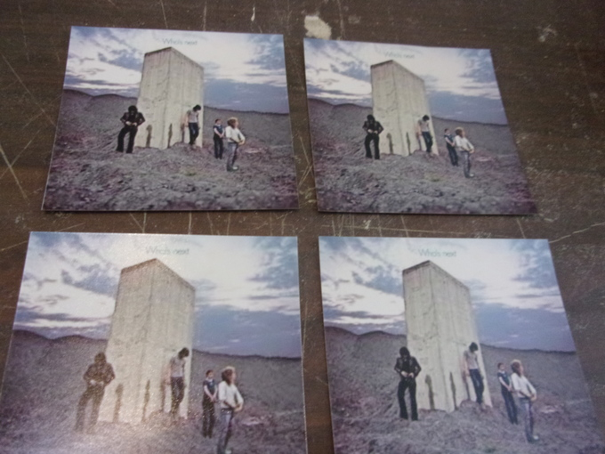 """SET OF 4    """"WHO'S NEXT""""   ALBUM COVER DRINK COASTERS     NEW"""